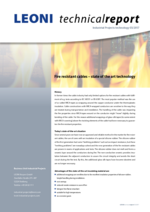 Fire resistant cables – state of the art technology