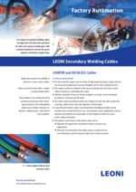 LEONI secondary welding cables