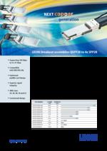 LEONI breakout assemblies QSFP28 to 4x SFP28
