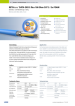 BETAtrans® DATA-ENX C-flex 100 Ohm CAT 5 / 5e FOAM