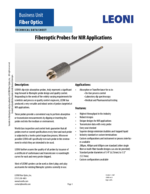 Fiberoptic probes for NIR applications