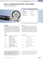 BETAtrans® GKW-ENX C-flex EN 50306-4 5E 300 V MMM S