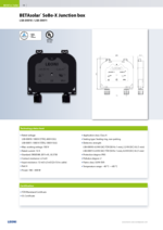 BETAsolar® SoBo-X Junction box