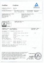 BETAflam® Solar 125 flex 1500 V DC certificate R60101179