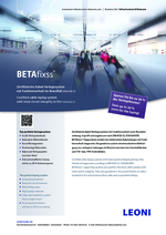 BETAfixss® Certified cable laying system with total circuit integrity