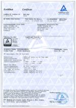 BETAflam® Solar 125 AC TÜV certificate R60082794
