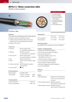 BETAdrive® Motor connection cable