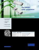 QSFP+ copper cable assemblies (LSZH)