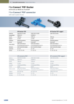 FiberConnect® POF connector with metal or plastic ferrules