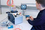 Stations de mesure pour câbles polymère et à fibre optique