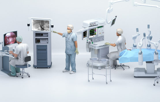 Robot computer-assisted surgery devices