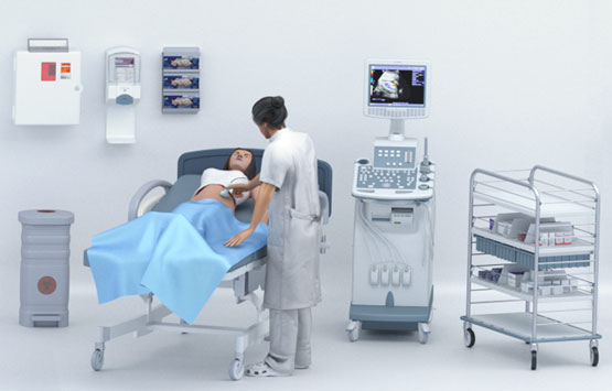 Ultrasound sonography device
