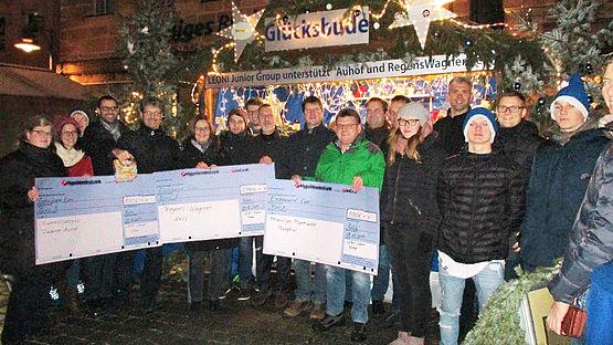 3 mal 1000 Euro für wohltätige Zwecke