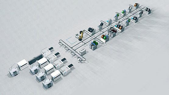 Aufbau automatisierter Produktion