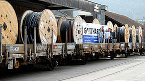 Delivery of the first 350 kilometres of energy cables