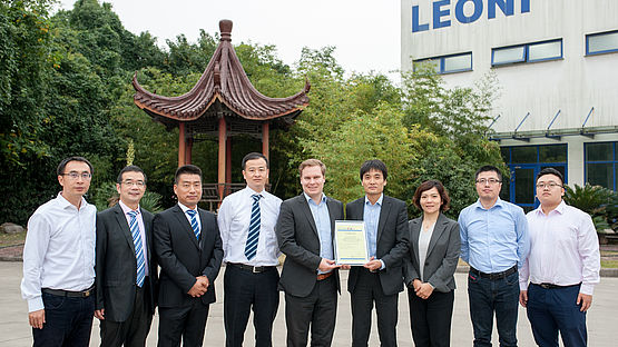 Group picture of certification ceremony in Changzhou