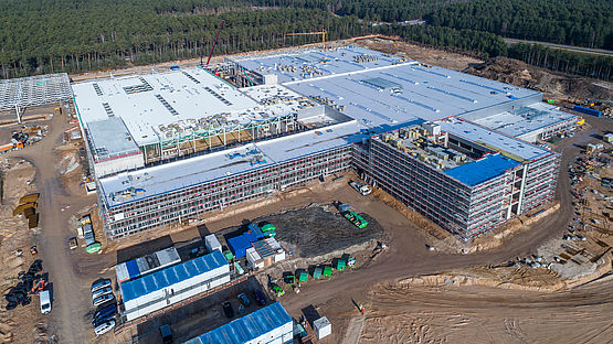 Aerial view of the factory site of Leoni's Factory of the Future