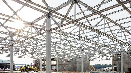 Construction progress of Leoni's Factory of the Future