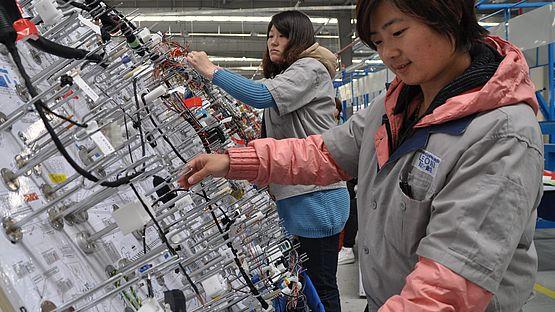 Chinese employee Langfang
