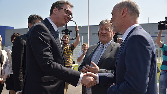 Inauguration of the Leoni plant in Nis, Serbia
