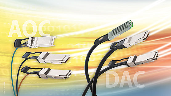Leoni DACs and AOCs are low-power, low-latency and hot-pluggable interconnects for 10 to 400 Gbit/s applications.