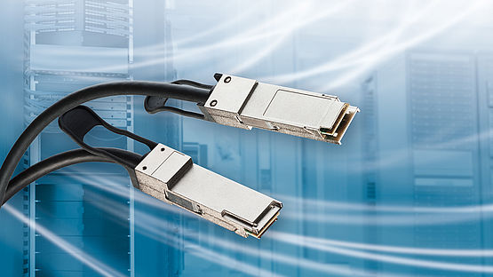 QSFP cable system transfers 200 G over copper