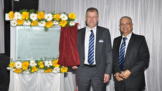 Opening ceremony of the cable production site in Pune (India)