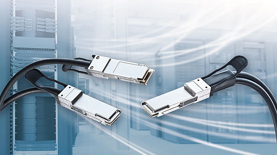 Splitter cable system QFSF28 to 2 x QSFP28